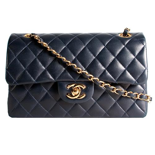 Chanel Classic 2.55 Quilted Lambskin Small Double Flap Shoulder Handbag