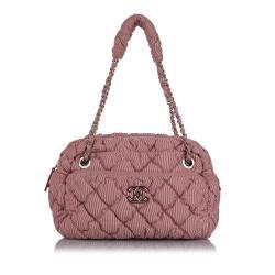 Chanel Classic Bubble Nylon Shoulder Bag