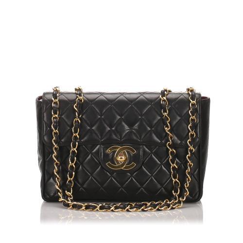 Chanel Lambskin Classic Jumbo Single Flap Bag
