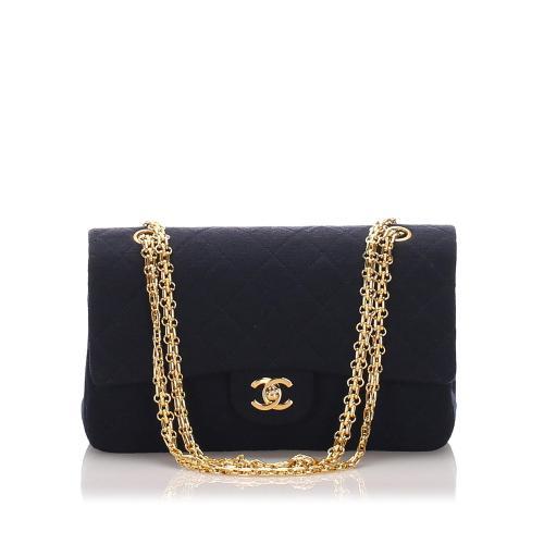 Chanel Cotton Classic Medium Double Flap Bag