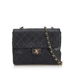 Chanel Lambskin Classic Mini Square Single Flap Bag