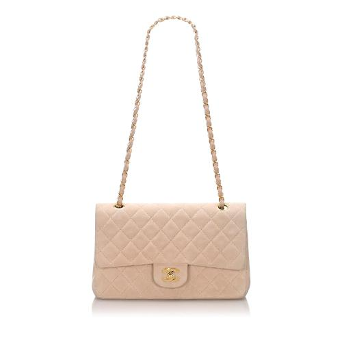 Chanel Nubuck Leather Small Classic Double Flap Bag