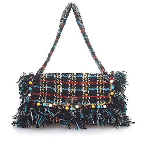 Chanel Classic Tweed Flap Shoulder Handbag