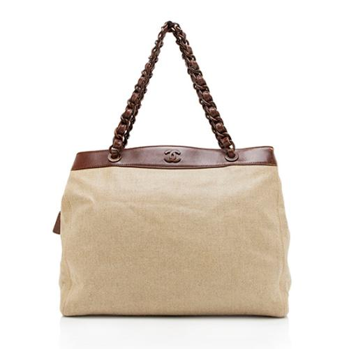 Chanel Coated Canvas Chain Tote