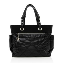 Chanel Coated Canvas Paris Biarritz Large Tote