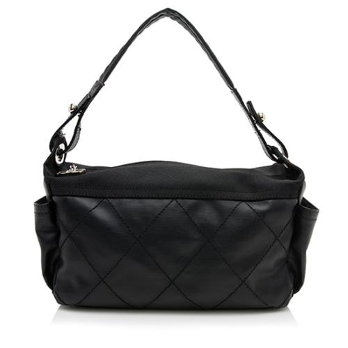 Chanel Coated Canvas Paris Biarritz Small Hobo