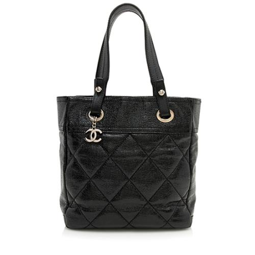 Chanel Coated Canvas Paris Biarritz Small Tote