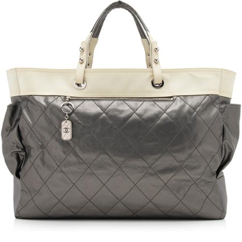 Chanel Coated Canvas Paris Biarritz XL Tote