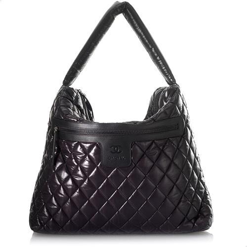 Chanel Coco Cocoon Nylon Tote Handbag