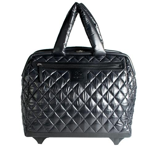 Chanel Coco Cocoon Quilted Nylon Trolley Luggage