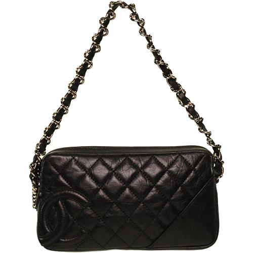 Chanel Cotton Club Quilted Pouchette Shoulder Handbag