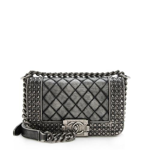 Chanel Dallas Paris Faded Calfksin Studded Small Boy Bag