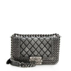 Chanel Dallas Paris Faded Calfksin Studded Small Boy Bag