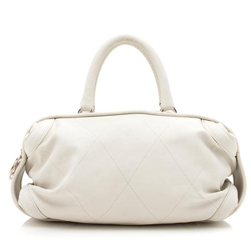 Chanel Diamond Quilted Leather Essential Bowler Satchel