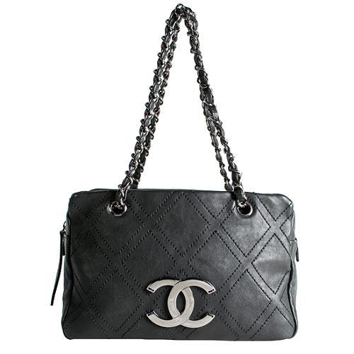 Chanel Diamond Stitch Satchel Handbag