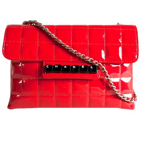 Chanel Digital Patent Flap Shoulder Handbag