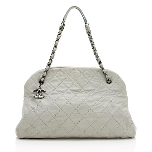 Chanel Distressed Calfskin Just Mademoiselle XL Bowler Bag