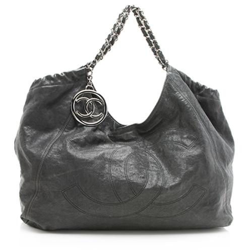 Chanel Distressed Caviar Leather Coco Cabas XL Tote