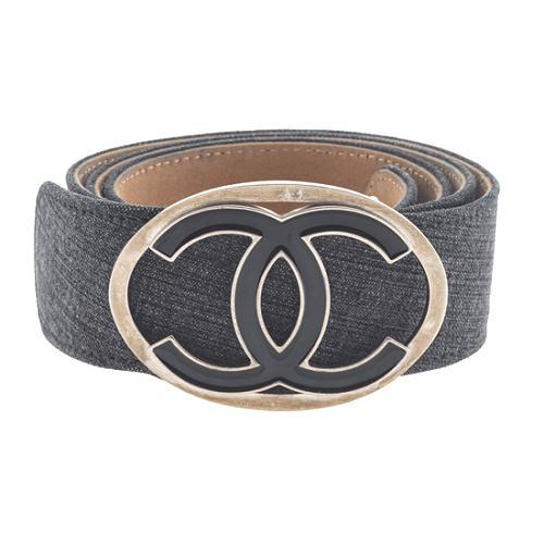 Chanel Enamel CC Denim Belt - Size 34