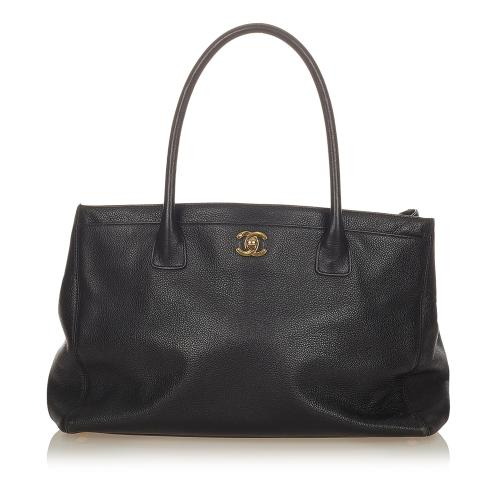Chanel Executive Cerf Leather Tote Bag