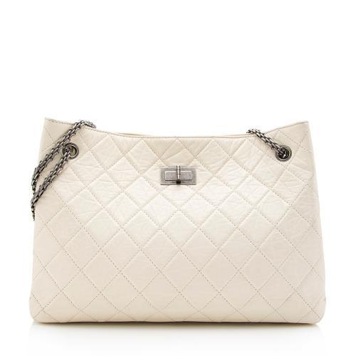Chanel Glazed Calfskin 2.55 Reissue Shopping Tote