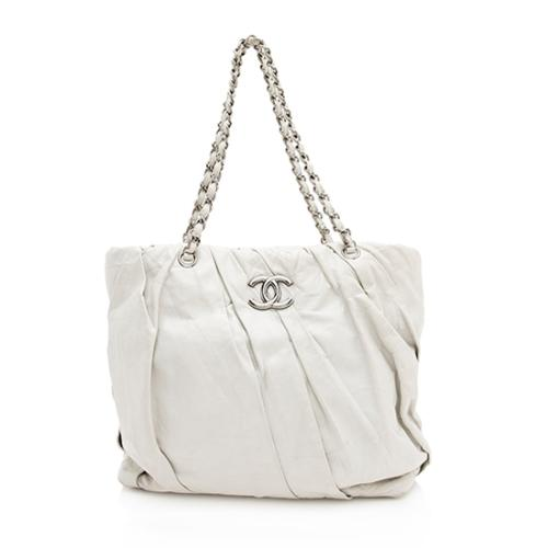 Chanel Glazed Calfskin Twisted Tote