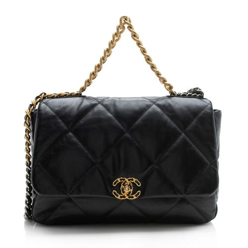 Chanel Goatskin 19 Maxi Flap Shoulder Bag