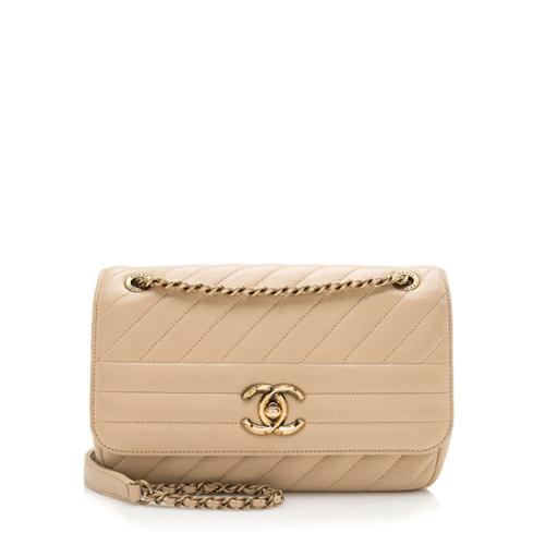 Chanel Goatskin Diagonal Small Flap Bag - FINAL SALE