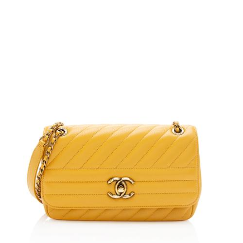 Chanel Goatskin Diagonal Small Flap Bag