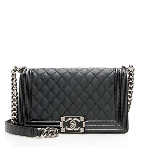 fbff6f1e113 Chanel Goatskin Medium Boy Bag