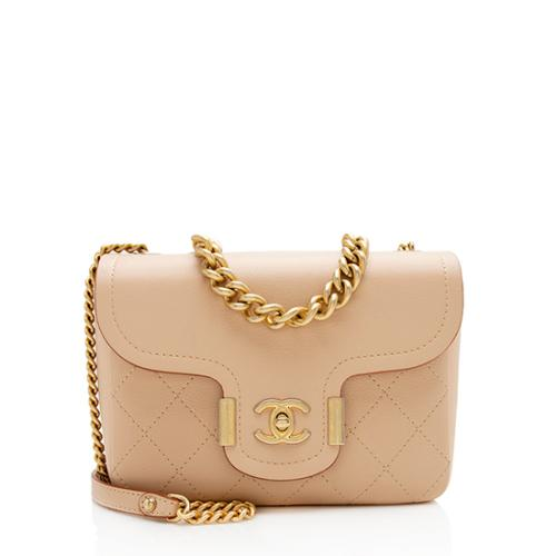 Chanel Grained Calfskin Archi Chic Flap Bag