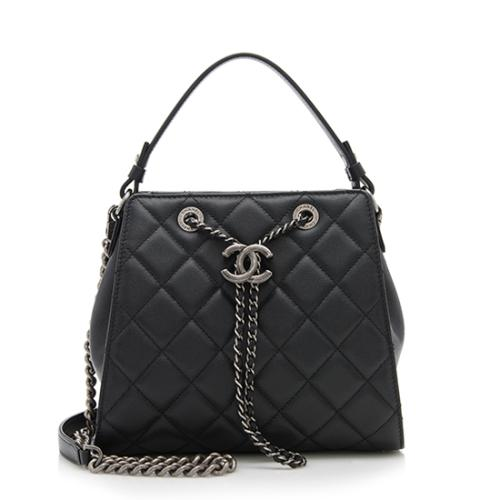 Chanel Grained Calfskin CC Small Bucket Bag