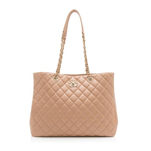Chanel Grained Calfskin CC Large Shopping Tote