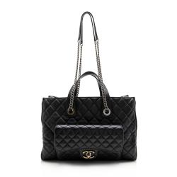 Chanel Grained Calfskin Casual Pocket Large Tote