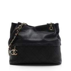 Chanel Grained Calfskin Cinched Tote