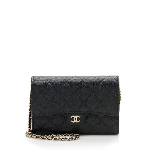 Chanel Grained Calfskin Classic Clutch on Chain