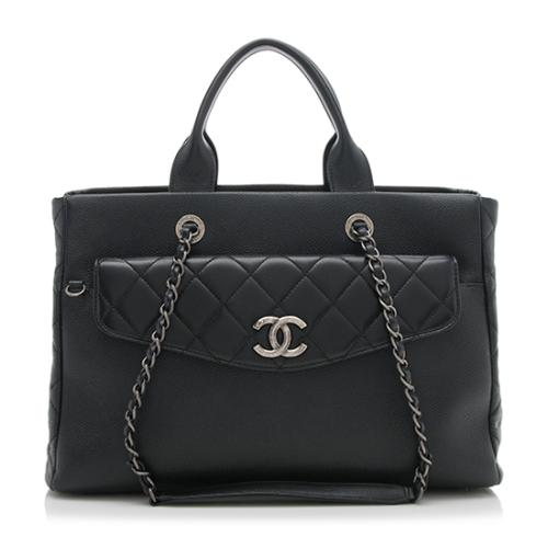 Chanel Grained Calfskin Coco Break Large Shopping Tote