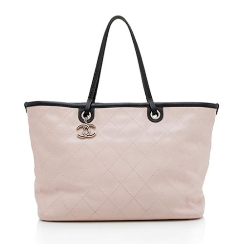 Chanel Grained Calfskin Shopping Fever Large Tote