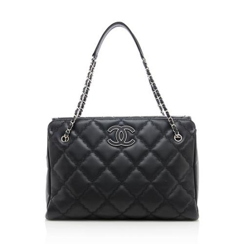 Chanel Lambskin Hampton Large Shopping Tote