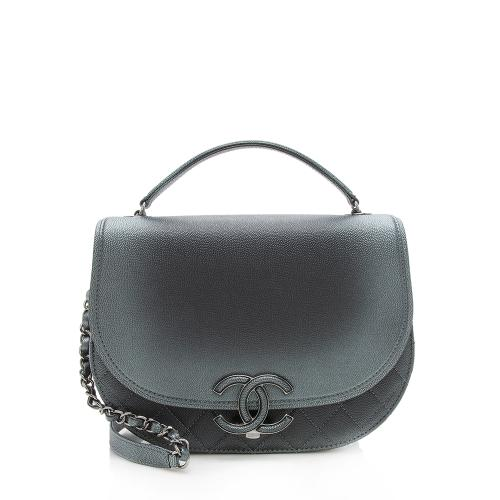 Chanel Iridescent Caviar Coco Curve Medium Shoulder Bag