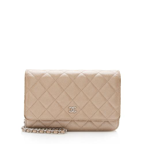 Chanel Iridescent Caviar Leather Classic Wallet on Chain Bag