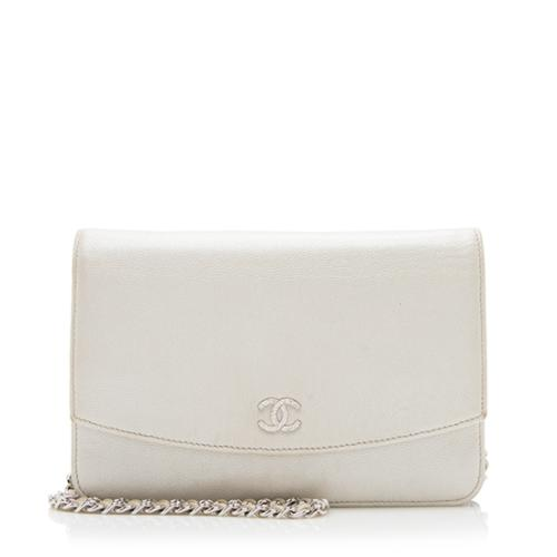 Chanel Irridecent Caviar Leather Sevruga Wallet on Chain Bag