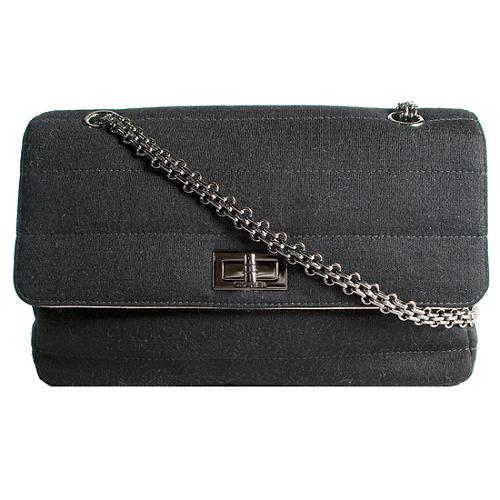 Chanel Jersey Wool Flap Shoulder Handbag