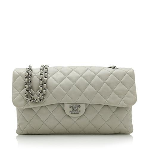 Chanel Lambskin Accordian Maxi Shoulder Bag