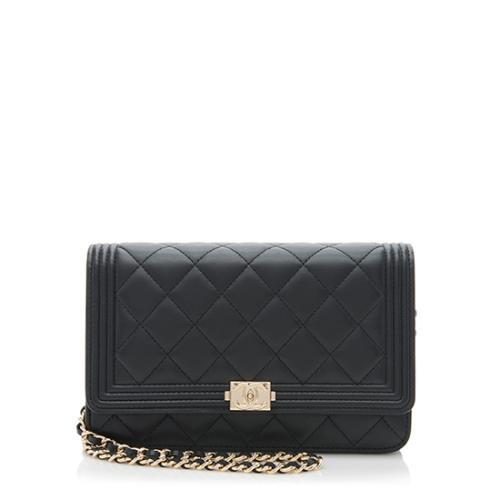 Chanel Lambskin Boy Wallet on Chain Bag