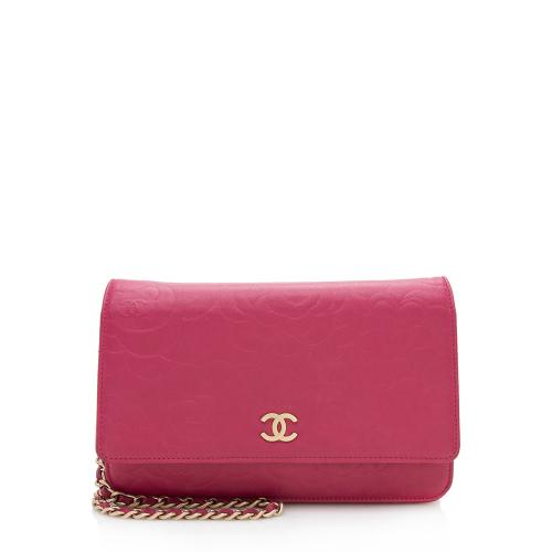 Chanel Lambskin Camellia Wallet on Chain Bag