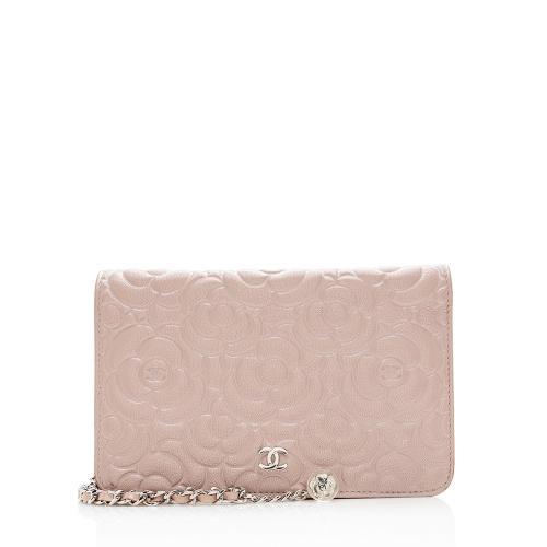 Chanel Lambskin Camellia Wallet on Chain Bag