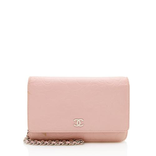 Chanel Lambskin Camellia Wallet on Chain