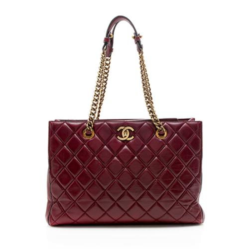 Chanel Lambskin Perfect Edge Chain Shopping Tote