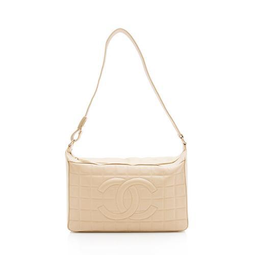 Chanel Lambskin Chocolate Bar Shoulder Bag